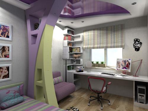 детские комнаты для двух девочек подростков
