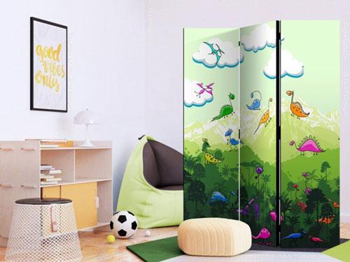 зонирование детской комнаты шкафом