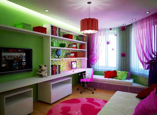 варианты зонирования детской комнаты