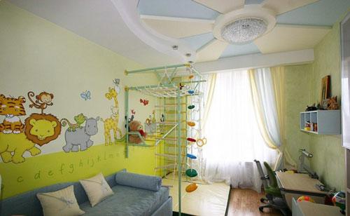 зонирование детской комнаты для мальчика