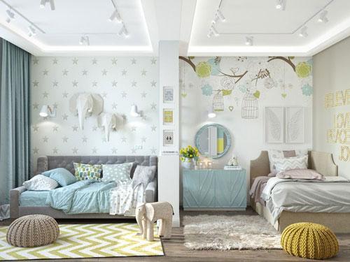 интерьер комнаты для мальчика и девочки 2