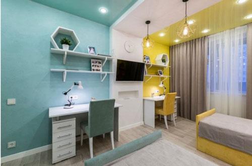 зонирование детской комнаты для разнополых