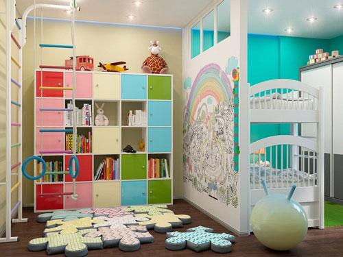 зонирование детской комнаты 18 кв м