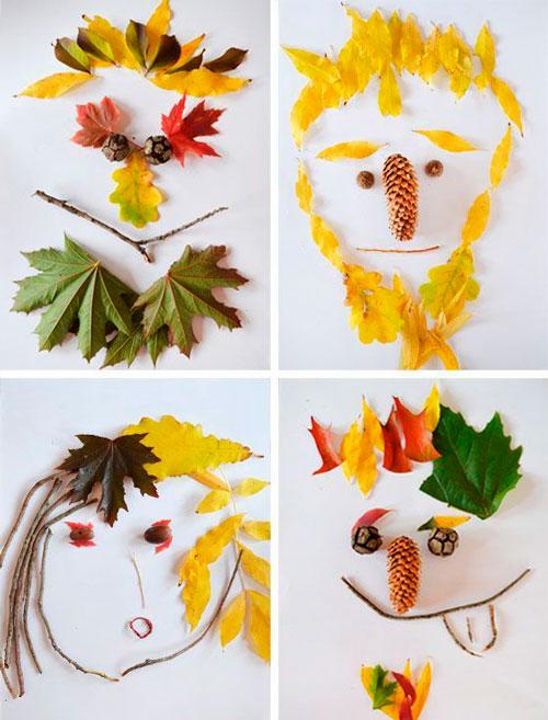 поделка в сад из осенних листьев своими руками 3