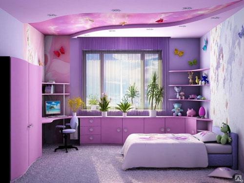 как можно оформить комнату для подростка девочки