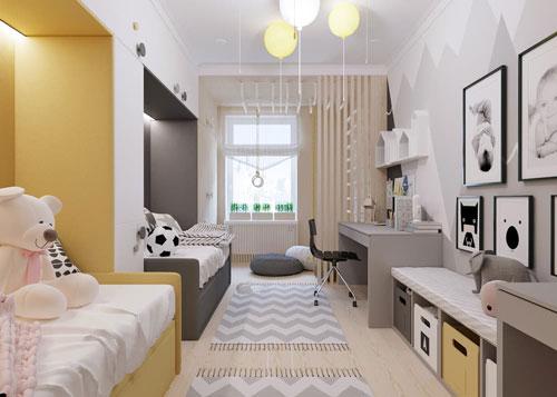 уютная комната для мальчика и девочки
