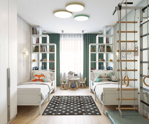 дизайн комнаты для девочки и мальчика вместе 2