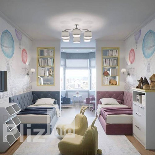 дизайн комнаты для девочки и мальчика вместе