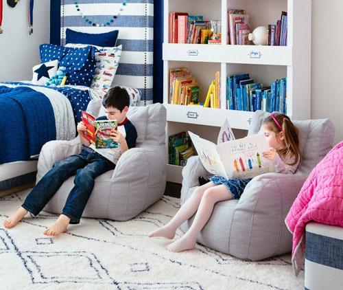 детская комната для двоих мальчик и девочка