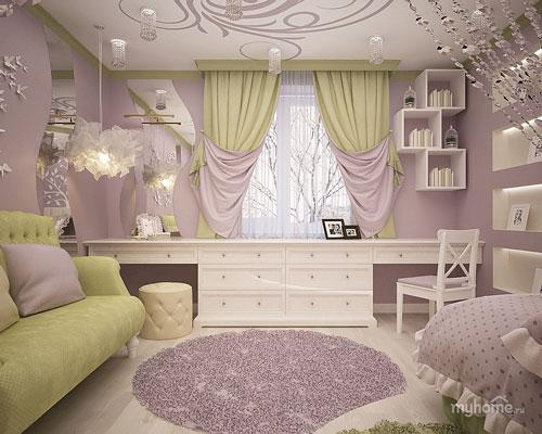 стили дизайна комнаты девочки подростка 3