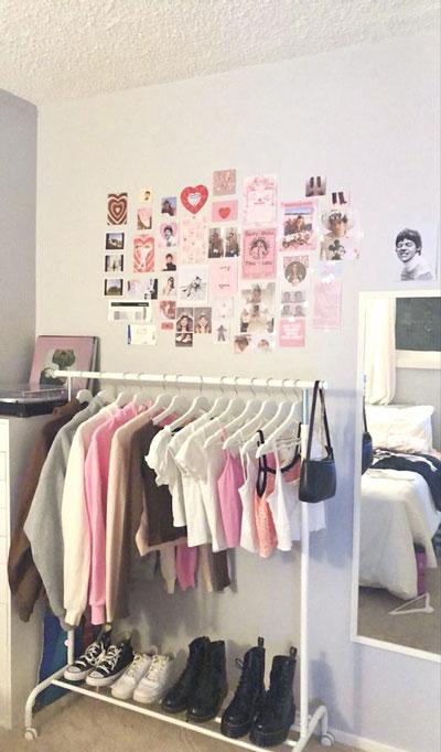большая комната для подростка девочки