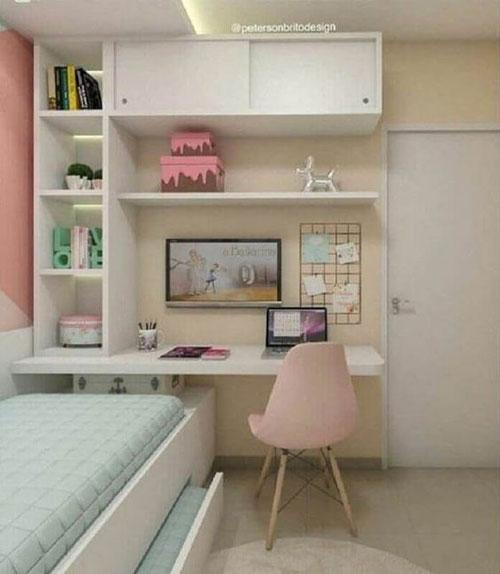 прямоугольные комнаты для подростков девочек