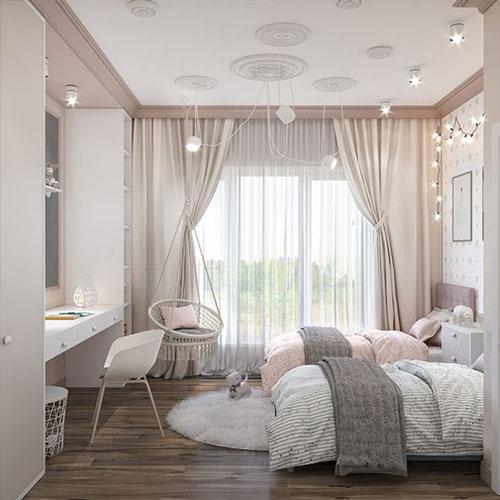 небольшая комната для девочки подростка