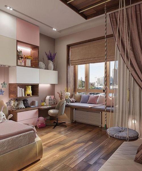 комната для подростка девочки 14 кв