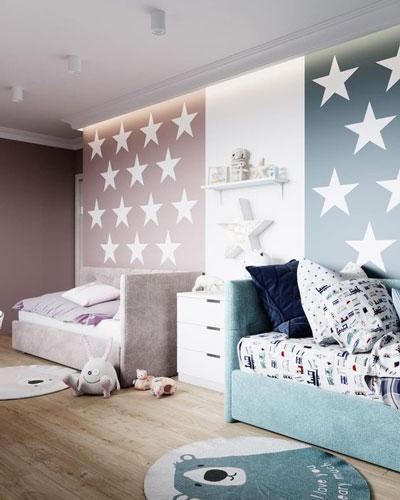 комната зоны +для мальчика и девочки