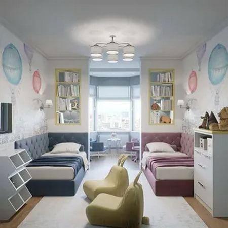 комната для двоих мальчик девочка