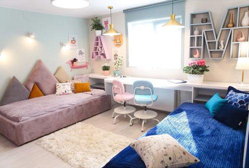 как разделить комнату для мальчика и девочки 5