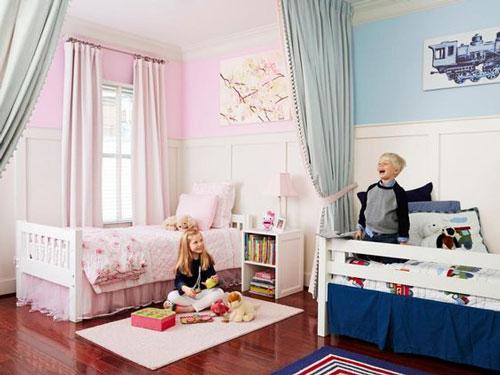 комнаты для детей мальчика и девочки 3