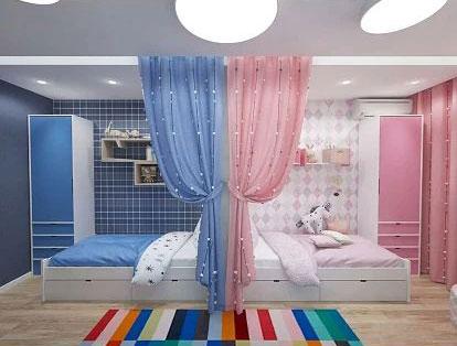 комнаты для детей мальчика и девочки 2