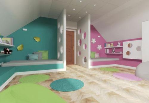 комнаты для детей мальчика и девочки