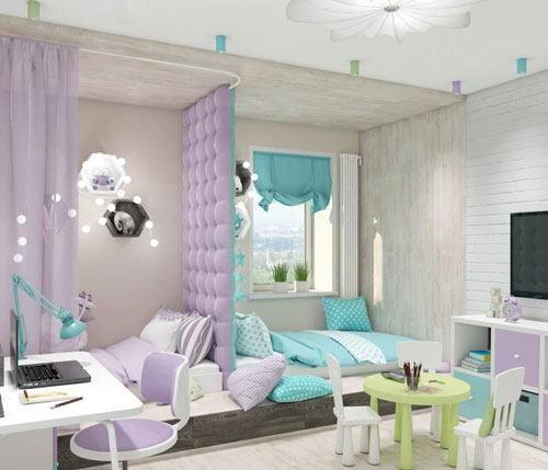 комната для мальчика и девочки 3