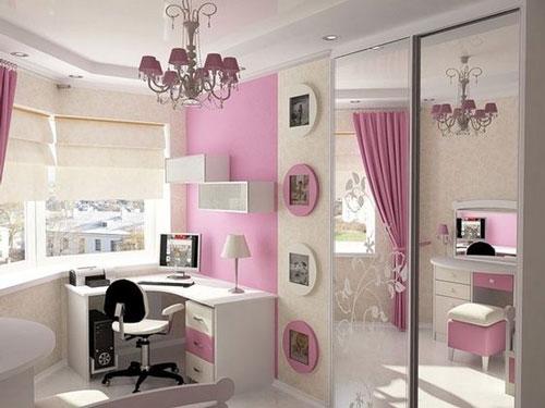 фиолетовая комната для девочки подростка