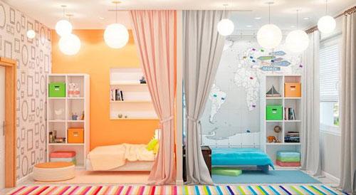 дизайн детской комнаты +для мальчика и девочки 7