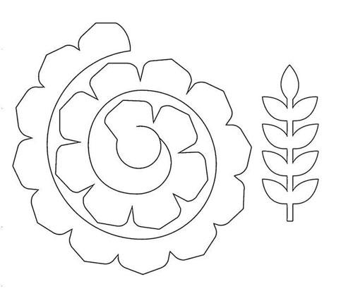 шаблоны цветов из фетра 2
