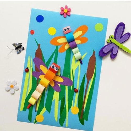 детские летние поделки из бумаги 5
