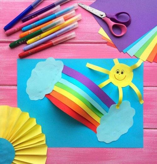 детские летние поделки из бумаги 6