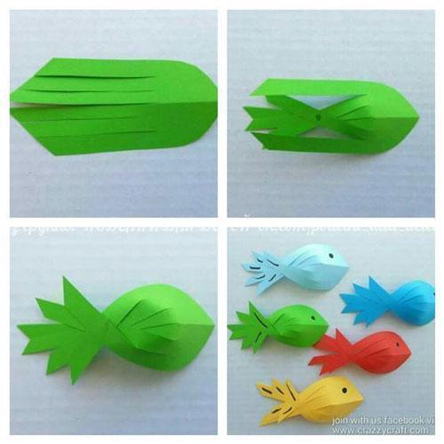летние поделки из бумаги для детей в сад 5