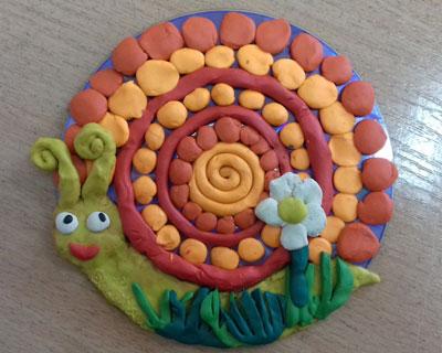 Летние поделки из пластилина для детей в садик 2
