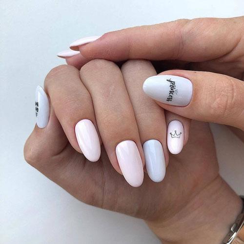 маникюр в стиле минимализм на короткие ногти