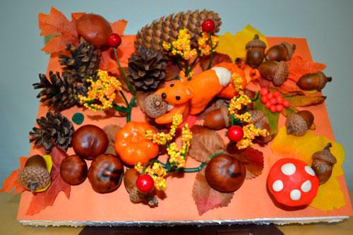 Поделки из пластилина на тему осень для детей 5-7 лет