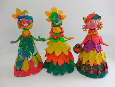 Поделки из пластилина на тему осень для детей 4-5 лет