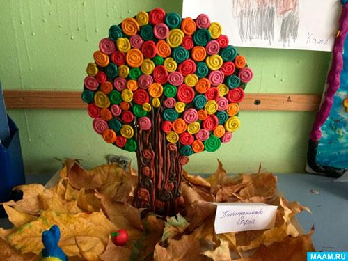 Поделки из пластилина на тему осень первый класс