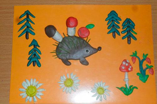 Поделки из пластилина на тему осень для детей 3-4 лет