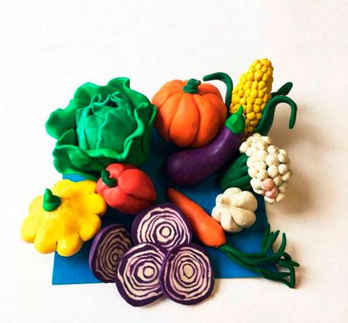 Поделки из пластилина на тему осень для детей 6-7 лет