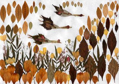 Осенние поделки в садик из листьев 5