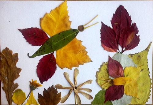 Осенние поделки в садик из листьев 3