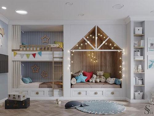 идея зонирования детской комнаты