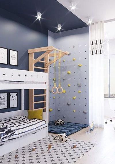 стеллаж перегородка для зонирования детской комнаты