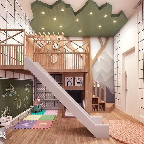 зонирование детской комнаты гипсокартоном