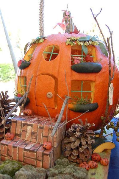 сказочный домик из тыквы