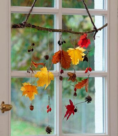 детские поделки осенние из листьев 4