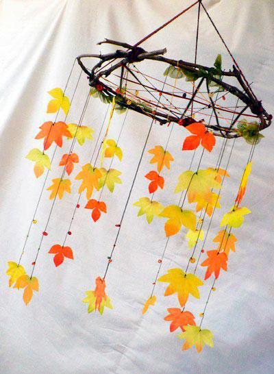 детские поделки осенние из листьев 3