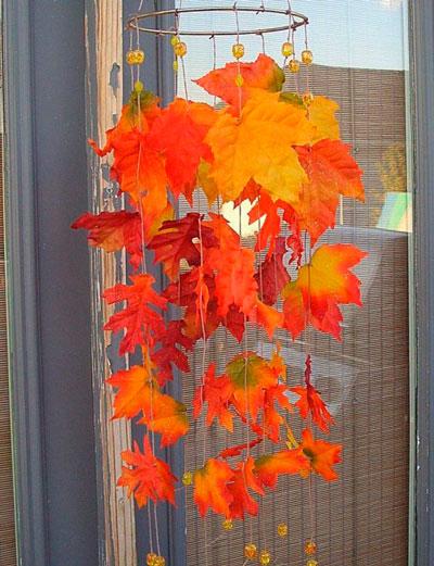 детские поделки осенние из листьев 2