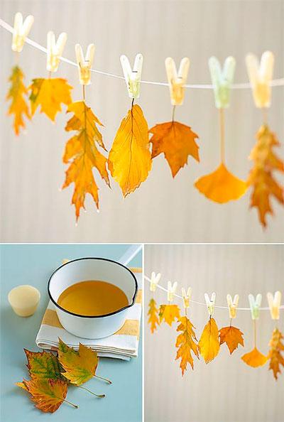 детские поделки осенние из листьев