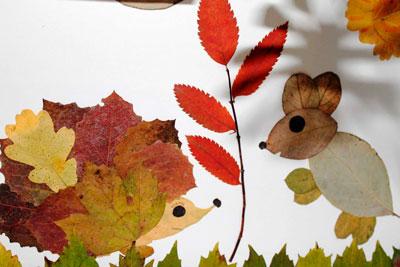 Поделки из осенних листьев в детский сад