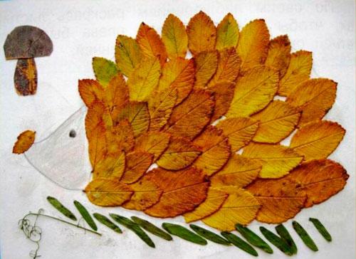 поделки из осенних листьев